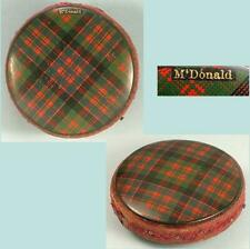 Antique McDonald Tartan Ware Disc Pin Cushion * Scottish * Circa 1890