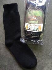 7 pairs BAMBOO mens work socks 92% real bamboo premium  thick 3 ply comfy black