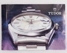 Vintage Collectible Tudor Booklet Circa 1989 Ref. 582.22! Includes 79160 Chrono!