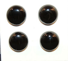Black Agate 12mm with 5.5mm dome Cabochons Set of 4 (10038)