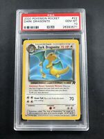 2000 Pokemon Rocket #22 Dark Dragonite PSA 10 GEM MINT LOW POP!