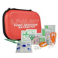 LIVABIT First Response Extractor Venom Poison Bite Extraction Pump First Aid Kit