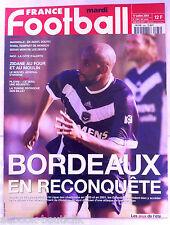 FRANCE FOOTBALL 24/07/2001; Bordeaux/ Zidane/ Platini/ Sedan/ Marseille/ Roma