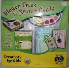Flower Press & Nature Cards Kit by Creativity for Kids -  New in Opened Box
