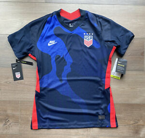 Womens Size Medium Nike USA Soccer Jersey Away 2021 Blue CD0907-475