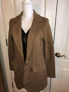 Ralph Lauren Wool Cashmere Blend Herringbone Blazer Jacket unlined NWT
