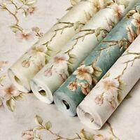 Vintage Blumen Vliestapete Selbstklebend Klebefolie Wohnzimmer Schlafzimmer Deko