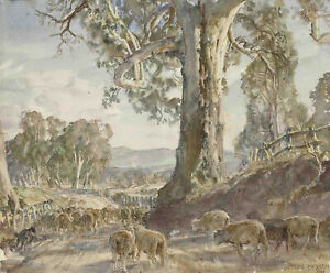 """Hans Heysen  Canvas Print  """"A Country Road""""  Framed & Ready to Hang"""