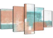 5 Pezzo Corallo Turchese UFFICIO ASTRATTO TELA Decorazioni - 5366 - 160 cm