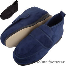 Mens / Gents Microsuede EEE Wide Fitting Slippers / Boots with Ripper Fastening