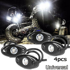 4x White Offroad Truck SUV Underbody Glow Light Lamp Tail Light Fit Land Rover