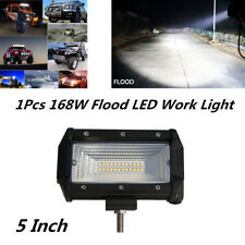 "1Pc 5"" 168W Spot Flood LED Work Light Bar Car Off-Road Fog Driving Light 12V 24V"