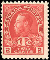 Canada Mint H 1916 F Scott #MR3 2c+1c War Tax Stamp