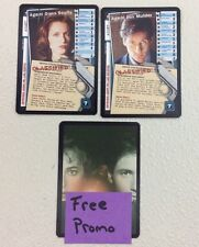 X-Files CCG Mulder & Scully XF97-0169v2 & XF97-0173v2 Truth Fixed Cards + Promo