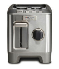 Wolf 2 Slot Toaster New Box Silver Knob (Red / Black Knob Can Be Purch Separate)