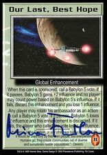 BABYLON 5 CCG Mira Furlan PSI CORPS Our Last, Best Hope AUTOGRAPHED