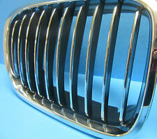 Front Hood Grill Driver Side Replace BMW OEM# 51138208489 Chrome Black