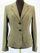 Banana Republic Womens  Size 4 Blazer Brown Taupe Blue Pinstripe 2 Button Fitted