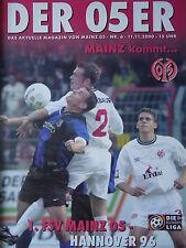 Programm 2000/01 1. FSV Mainz 05 - Hannover 96