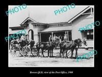 OLD LARGE HISTORIC PHOTO OF BOWEN QLD, VIEW OF THE POST OFFICE c1908