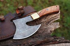 Axt Damast Stahl mit Scheide handgeschmiedet Mittelalter Axt