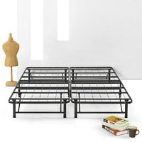 SIMPLE&EASY BiFold Metal bed frame Under bed Storage, Steel Twin Full Queen King