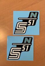 2x Simson S51 N Seitendeckel Wasserabziehbilder Abziehbilder