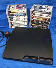Sony PS3 Slim 160GB Consola (CECH - 2503A) y 23 Juegos-sin controladores