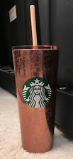 Starbucks 2019 Rose Gold Speckled Holiday 16 oz Tumbler Cold Cup