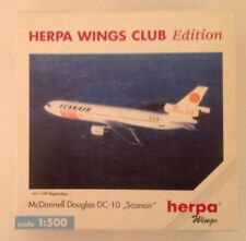 HERPA WINGS CLUB EDITION - MCDONNELL DOUGLAS DC-10 SCANAIR 500142 W/ REG. 1/500