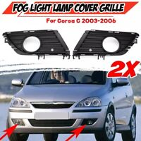 2X Car Front Fog Light Grille Fog Lamp Cover Front Bumper Grille Grill for  B6P8