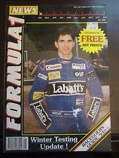 RARE UK F1 News Magazine Damon Hill Winter Testing Update February 1993 AB