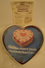 1978 WILTON Happiness Heart CAKE 2 PAN SET 2105-956 with INSERTS and DIRECTIONS