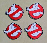 GHOSTBUSTERS 3 inch EMBROIDERED APPLIQUE PATCH SEWN IRON ON BADGES ~ LOT OF 4