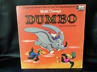 1965 Walt Disney Dumbo  -Vinyl LP Album W/Illustrated Book  # 3904
