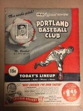 Signed(3) 1953 Portland Beavers PCL Baseball Program vs Hollywood Stars; J Heard
