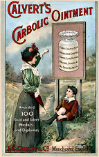 Vintage  Advertising poster  A4 Photo RE PRINT Calverts Carbolic Ointment