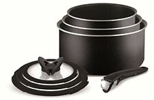 Tefal Ingenio Essential 7 Piece Sauce Pan Set with Lids Black