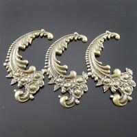 Antiqued Bronze Tone Vintage Fancy Phoenix Tail Rose Pendant Charms 12pcs