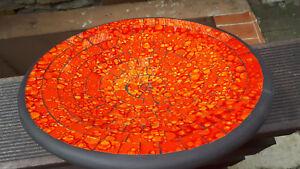 29cm orange glas Mosaik Obst Deko Schale Teller Terracotta    alter Preis 24,99