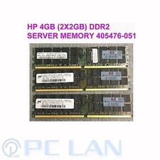 2X HP GENUINE 2X 2GB = 4GB PC2-5300 ECC DDR2 SDRAM DIMM Server MEMORY 405476-051