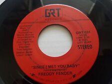 """FREDDY FENDER - Since I Met You Baby / Little Mama 1975 POP ROCK 7"""" grt"""