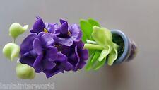 Violet Orchid Flower Plant Ceramic Asian Paradise 3D Fridge Magnet Refrigerator