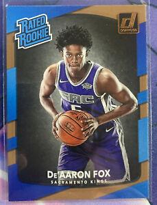 2017-18 Panini Donruss #196 De'Aaron Fox Rated Rookie RC Sacramento Kings