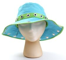Guess Turquoise & Green Bermuda Floppy Sun Hat Women's NWT