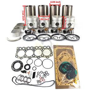4D30 Engine Overhaul Kit Fits Mitsubishi Fuso Canter FE FG 3.3L Truck Excavator