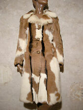 CHIC VINTAGE MANTEAU FOURRURE VERITABLE 1970 SEVENTIES VTG FUR COAT 70s (36/38)