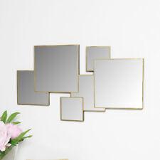 Gold square wall mirror decorative modern art deco contemporary wall art decor