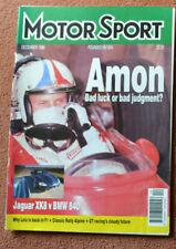 Motor Sport December 1996 Jaguar XK8, BMW 840, Chris Amon, Volvo V40