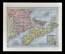1885 Watson Map - Nova Scotia New Brunswick Newfoundland Halifax St. John Canada